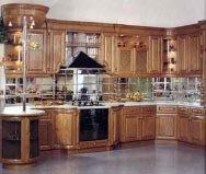 Кухонный гарнитур с фартуком из зеркальной плитки. Источник http://zerkalplitka.narod.ru