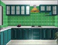 Кухонный гарнитур с фартуком из стеклянной плитки. Источник http://arsico.ru