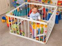 Манеж для детей— безопасен и практичен! Источник http://vanilla-life.ru