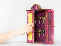 Настенная ключница своими руками— это ПРОСТО. Источник http://etsystatic.com