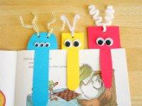 Такие закладки для книг из бумаги легко сделать вместе с детьми. Источник http://more-idey.ru