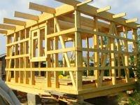 Каркасная конструкция для дачного домика. Источник http://www.stroy-f1.ru